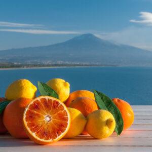 Arance rosse, limoni, Etna